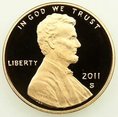2011 S Deep Cameo Proof Lincoln Shield Cent Penny (B04)