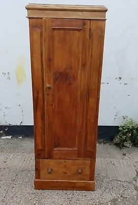 Narrow Victorian Pine Wardrobe Rustic Antique Wardrobe Pine Cupboard