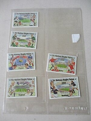 Rugby Union Six Nations 2000 Complete set of 6 Cards by Brian Lund Postcards