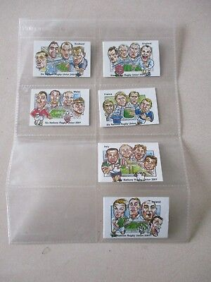 Rugby Union Six Nations 2001 Complete set of 6 Cards by Brian Lund Postcards