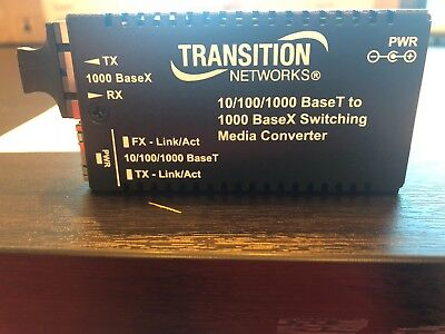 Brand New Never Used, M/GE-PSW-SX-01, 10/100/1000 BaseT to 1000 BaseX