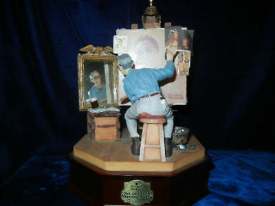 "Norman Rockwell "" Triple Self Portrait Figurine Collection  * Rare *"