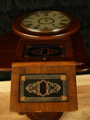 Antique Vtg American Jeromes Superior 8 day Anglo wall Clock restoration
