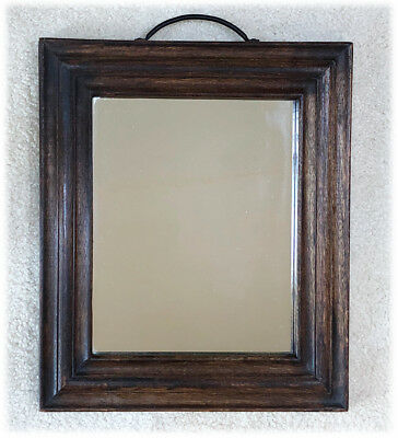 """VTG Rustic Farmhouse Country Distressed Wood Frame Mirror 14 x 16"""" Drawer Pull"""