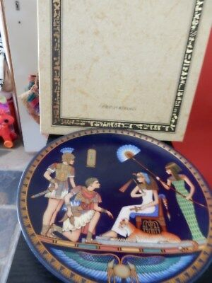 """Bradex Queen of Ancient Egypt """"Cleopatra meets  Anthony Collectors Plate"""
