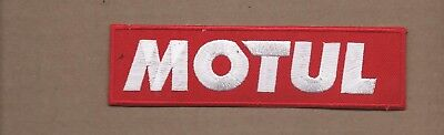 New 1 1/2 X 5 5/8 Inch Motul Motor Oil Iron On Patch Free Shipping