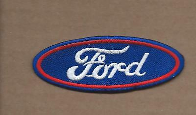 New 1 3/8 X 3 5/8 Inch Ford Oval Iron On Patch Free Shipping