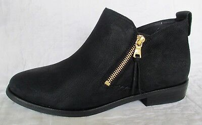 44782a04c88f UGG Australia Glee Block Heel Booties Boots BLACK Leather Woman s Size 9 NEW