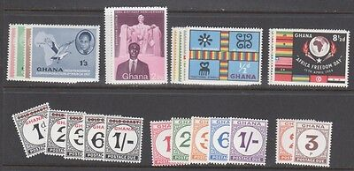 Ghana Stamps — Dealers Lot — (7) Diff Sets, 4-40 Each — 1957 — Mint
