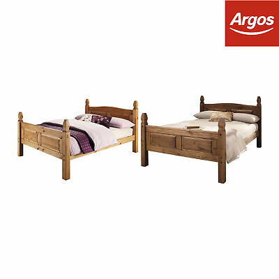 Argos Home Puerto Rico Double Wooden Bed Frame - Dark or Light