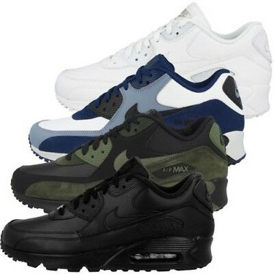 competitive price 975df 4236a Nike Air Max 90 Cuir Chaussures Homme Baskets de Sport Chaussures Baskets  302519