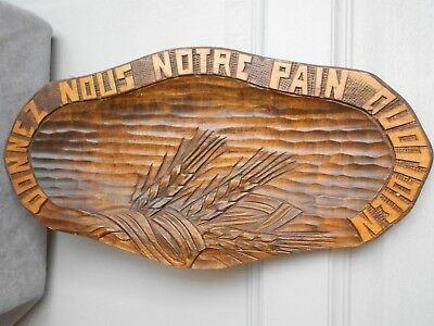 Vintage French Wooden oval TRADITIONAL Bread Board Country Daily Bread