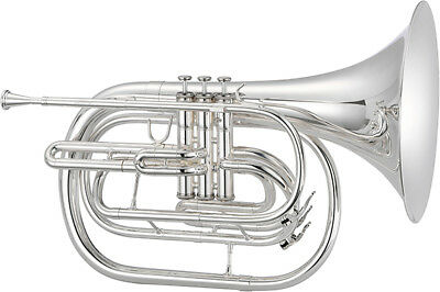 Jupiter JMH550S Bb Marching French Horn in Silver-Plated Brass BRAND NEW