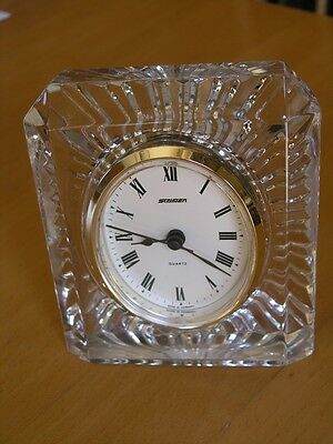 Vintage Staiger Germany With French Crystal case Mantle Clock Quartz Movement