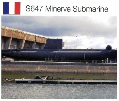Postcard - Navy - 50th anni. of the Loss of French Submarine Minerve