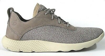 MENS TIMBERLAND FLYROAM Brown Leather Trainers Lace Up Size