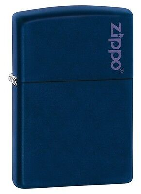 Zippo 239ZL, Zippo Logo, Navy Blue Matte Finish Lighter,  Full Size