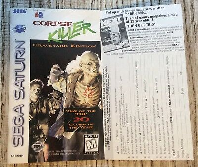 Please Read Only Manual for Corpse Killer (Sega Saturn)
