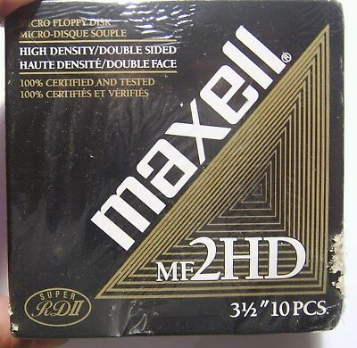 """Maxell Micro Floppy Disk 3 1/2"""" 10 pack unopened"""