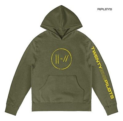 Official Twenty one 21 Pilots Olive Green Hoody Hoodie JUMPSEAL Trench All Sizes