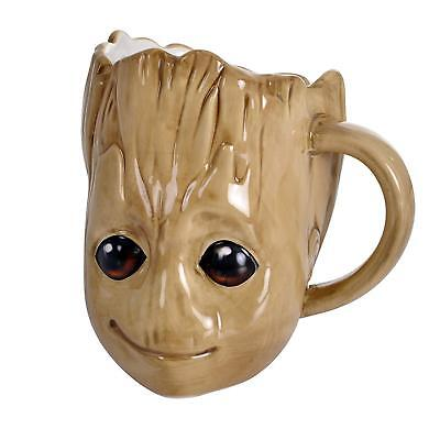 Official Guardians Of The Galaxy Groot Shaped 3D Coffee Mug Cup