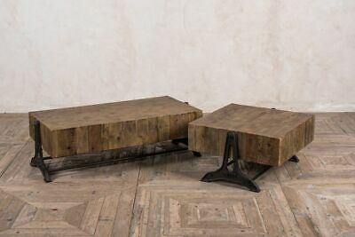 Industrial Style Coffee Tables Large And Small Wooden Coffee Table
