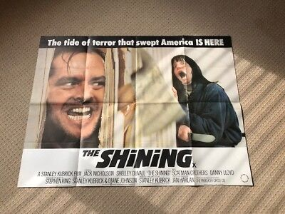 The Shining Original UK Quad Film Movie Poster. Jack Nicholson