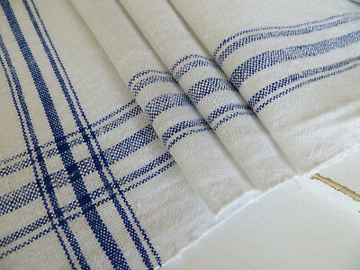 Unused  Danish   Hand Woven  Linen Towel Runner Dish Cloth Bath Cloth  Mono ML