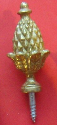 #15832  Single replacement bracket clock solid brass Acorn Finial