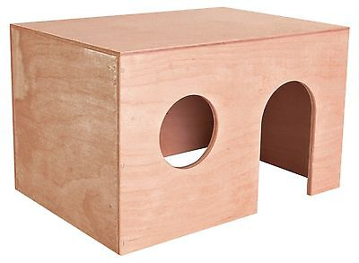OFFER Trixie Basic Flat Roofed - Wooden Pet Cage Hideaway House