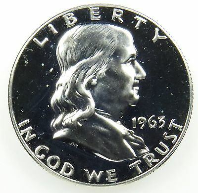 1963 Proof Franklin 90% Silver Half Dollar (B04)