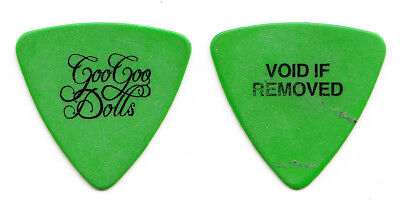 Goo Goo Dolls Robby Takac Void If Removed Green Bass Guitar Pick - 2016 Tour