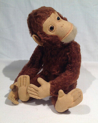 "SCHUCO ""TRICKY"" MECHANICAL YES NO MONKEY, 13"" LONG, GERMAN, 1950's or earlier"