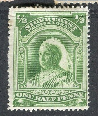 NIGER COAST; 1894-5 early classic QV issue Mint hinged 1/2d. value
