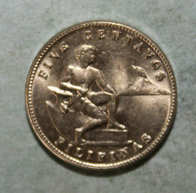Philippines 5 Centavos 1944 Brilliant Uncirculated Coin