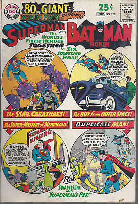 Worlds Finest  #170  VG  Silver Age   November 1967  80 Page Giant  G-40