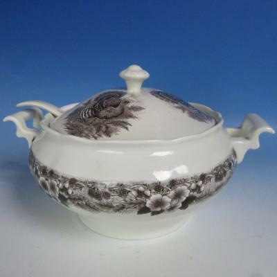 Myott Churchill Turkey Pattern Thanksgiving - Covered Soup Tureen with Ladle