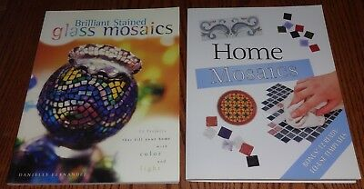Used 2 Book Lot Art Brilliant Stained Glass Mosaics Home Mosaics Techniques