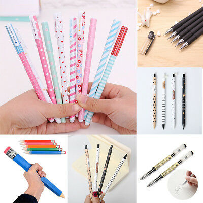 Pencil Gel Pen Ballpoint Student School Stationery Office Kids Gift Writing Tool