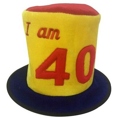 50TH BIRTHDAY AGE NOVELTY TOP HAT