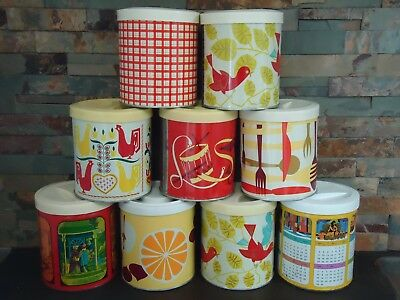 Vintage X9 Fluffo Kitchen Cannisters Lot-1960's Home Deco-Kitchen-Chic Design