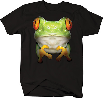 Big Red Eyed Tree Frog Wildlife Nature Jungle Swamp Lilly Pad T-shirt