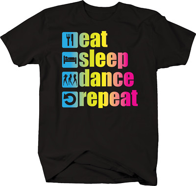 110037 Eat Sleep Dance Repeat Dancer Performer Embroidered Sew Iron On Patch New