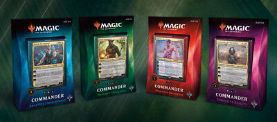 MTG COMMANDER 2018 EDITION Magic the Gathering - Set of 4 Decks New & Sealed