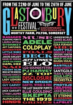 Glastonbury 2016 Poster Fridge Magnet