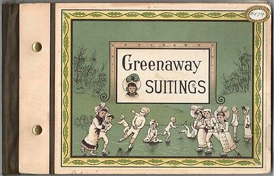 1880s Kate Greenaway Suitings Printed Cloth Sample Book - Merrimack Mfg. Co.