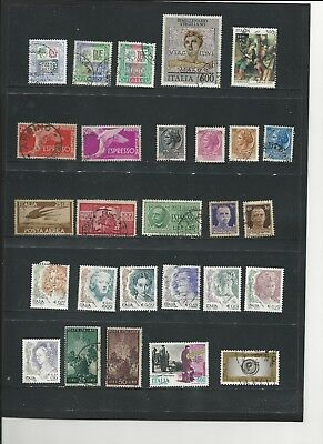 ITALY - FINE COLLECTION OF USED STAMPS - 2 PHOTOS - #ITA2ab