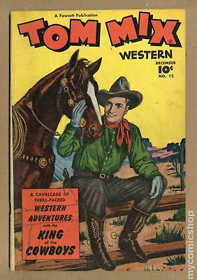 Tom Mix Western (Fawcett) #12 1948 GD/VG 3.0