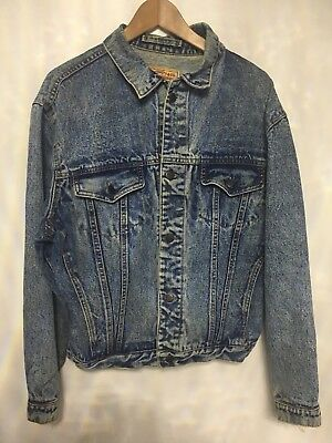 VTG 80s LEVI'S DENIM JEAN TRUCKER JACKET STRAUSS BUTTONED