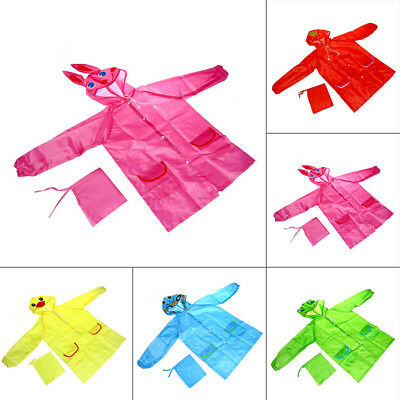 Rain Coat Kids Jacke Raincoat Baby Children Yellow. Red Green Cute Beatifully